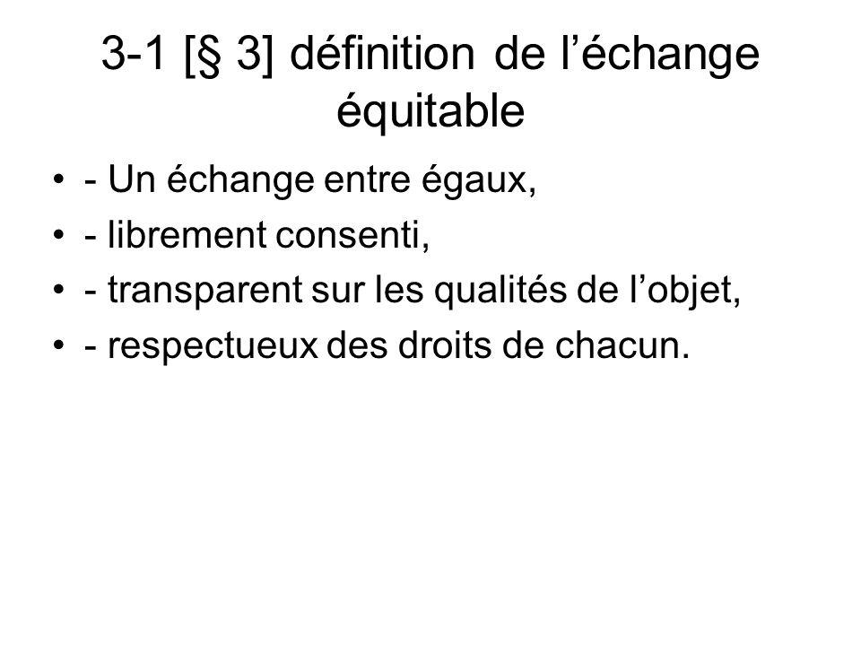 3-1 [§ 3] définition de l'échange équitable